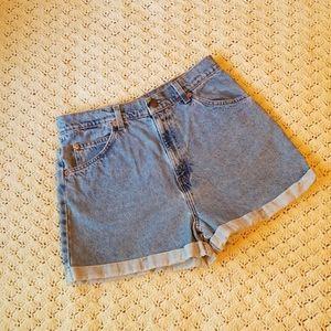 Vintage Levi's 954 Orange Tab Cuffed Denim Shorts